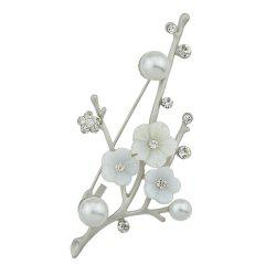 Natural Shellfish Flower Brooch for Women Girl -