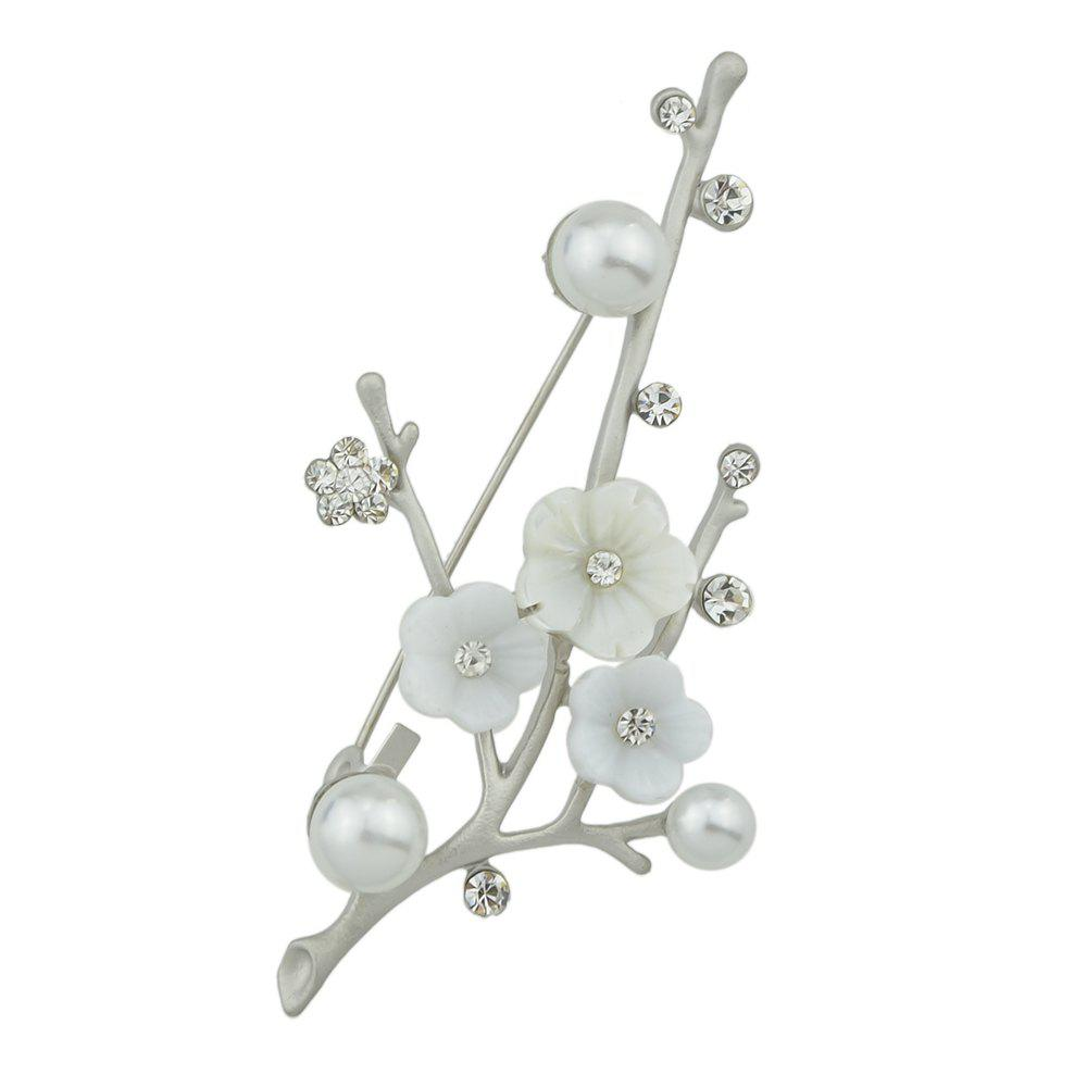 Outfit Natural Shellfish Flower Brooch for Women Girl