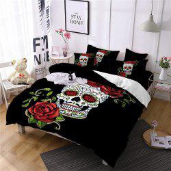 AS86-B Rose Fear Personality Decorative Pattern Bedding Set -