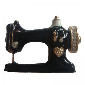 Personalized Black Sewing Machine Brooch Bag Pin Accessories -