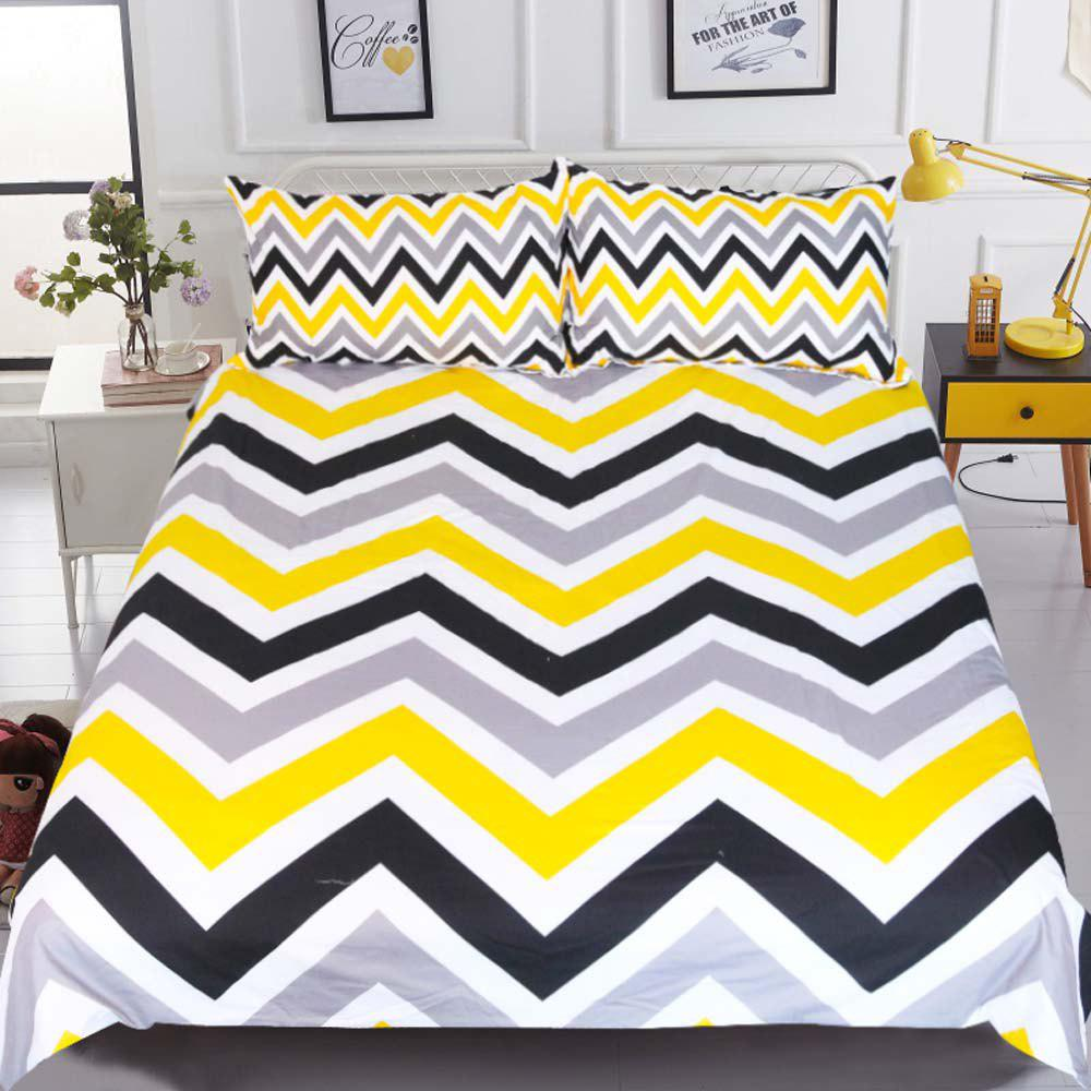Best Geometric Bedding  Wave Duvet Cover Set 3pcs