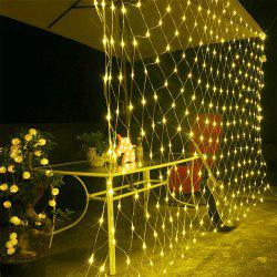 96 LEDs Fairy Fishing Mesh Net String Lighting Outdoor Party Festival Decoration -