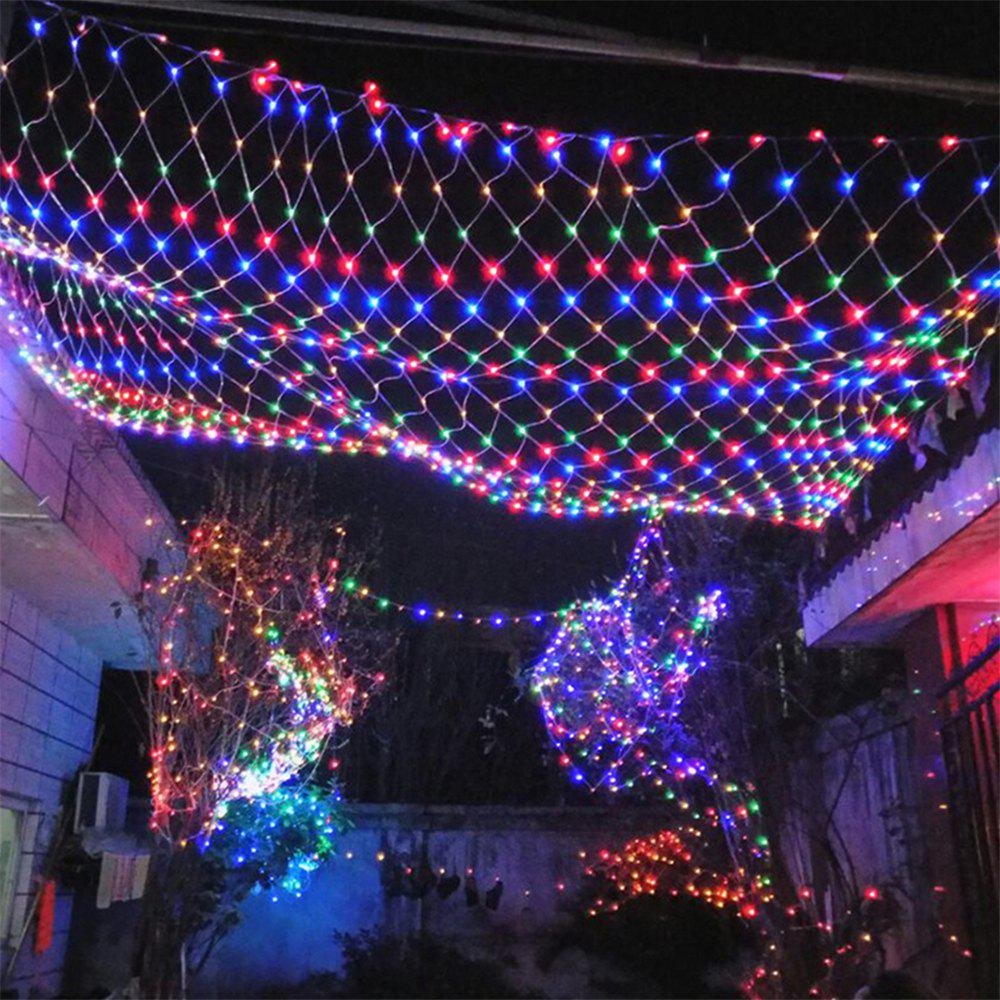 96 Leds Fairy Fishing Mesh Net String Lighting Outdoor Party Festival Decoration