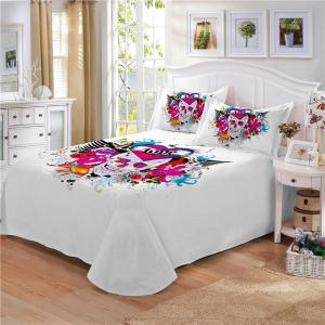 Rose Fear Personality Dynamic Rock Band Decorative Pattern Bedding Set AS88-A -