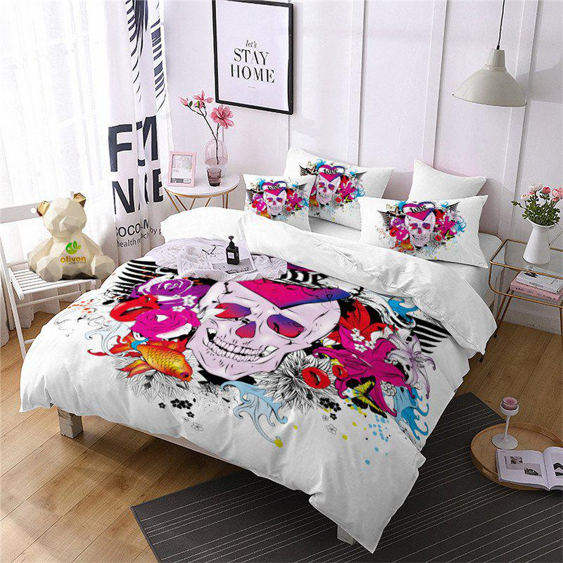 Chic Rose Fear Personality Dynamic Rock Band Decorative Pattern Bedding Set AS88-A
