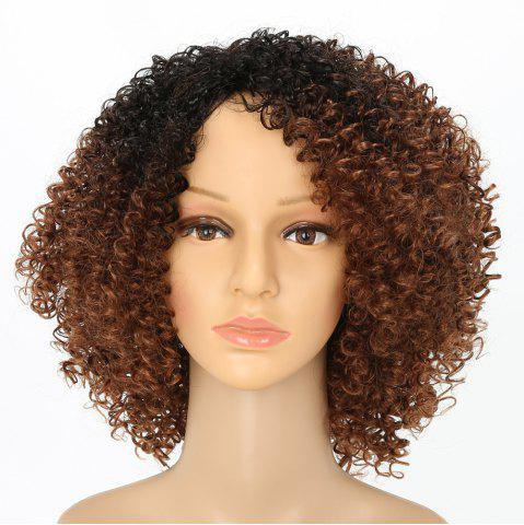 Sale Afro Curly Hair Ombre Fluffy Fashion Short Synthetic Wigs for White Girls