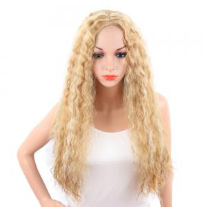Light Blonde Corn Perm Long Curly Best Synthetic Hair Fashion Wigs for Women -