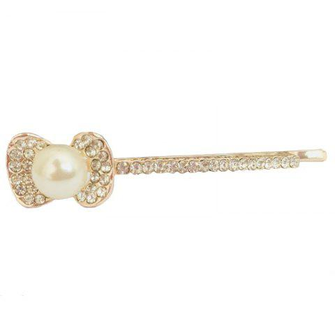 Fashion New Korean Popular Temperament Lady Bow Diamond Hairpin