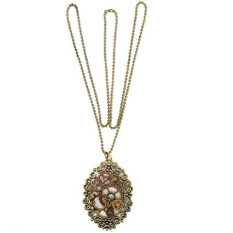 Store European and American Popular Steampunk Gear Pendant Necklace