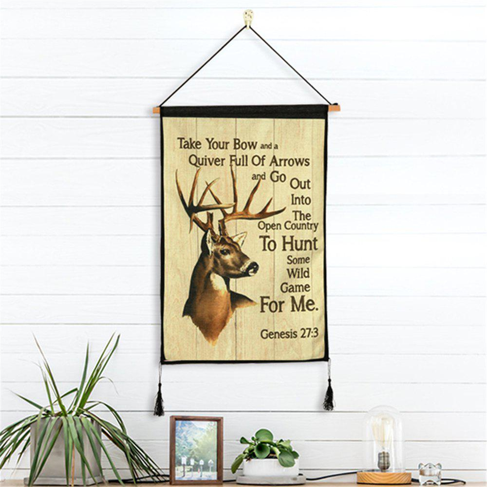 Multi Retro Style Deer Pattern Hanging Paintings Wall Decoration ...