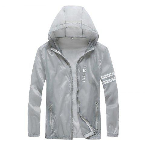 Shop Men Outdoor Sport UV Sun Protection Quick Dry Slim-Fit Thin Transparent Jacket