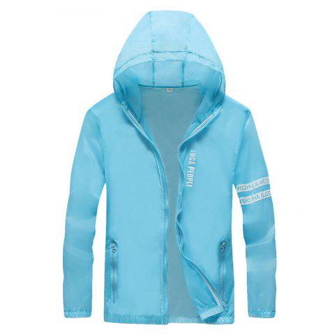 Hot Men Outdoor Sport UV Sun Protection Quick Dry Slim-Fit Thin Transparent Jacket