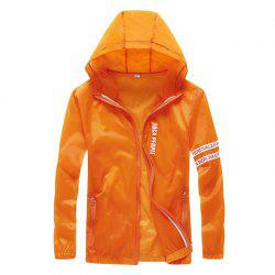 Men Outdoor Sport UV Sun Protection Quick Dry Slim-Fit Thin Transparent Jacket -