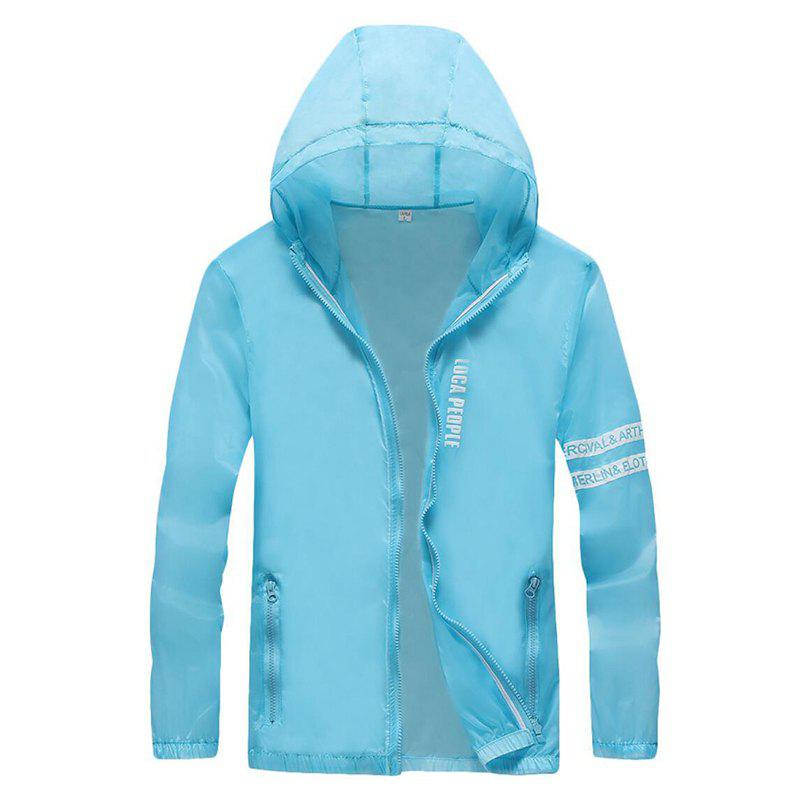 Shops Men Outdoor Sport UV Sun Protection Quick Dry Slim-Fit Thin Transparent Jacket