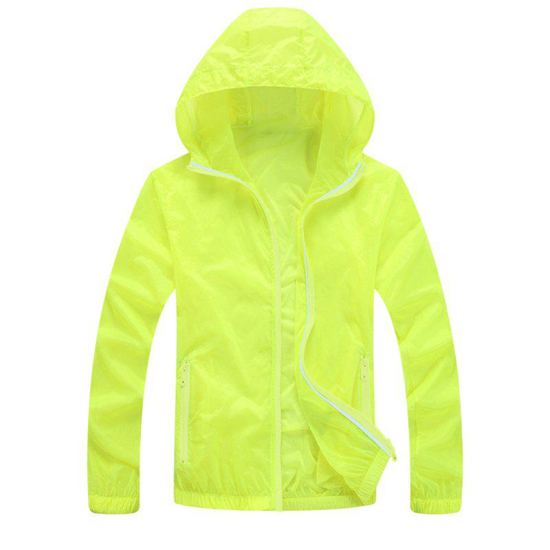 Unique Men UV Sun Protection Quick Dry Slim-Fit Thin Transparent Jacket