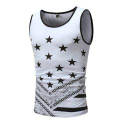 Men's Fashion Slim Star Printed Tank Vest -