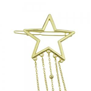 Gold-color Star Multi Layers Tassel and Beads Hairgrips -