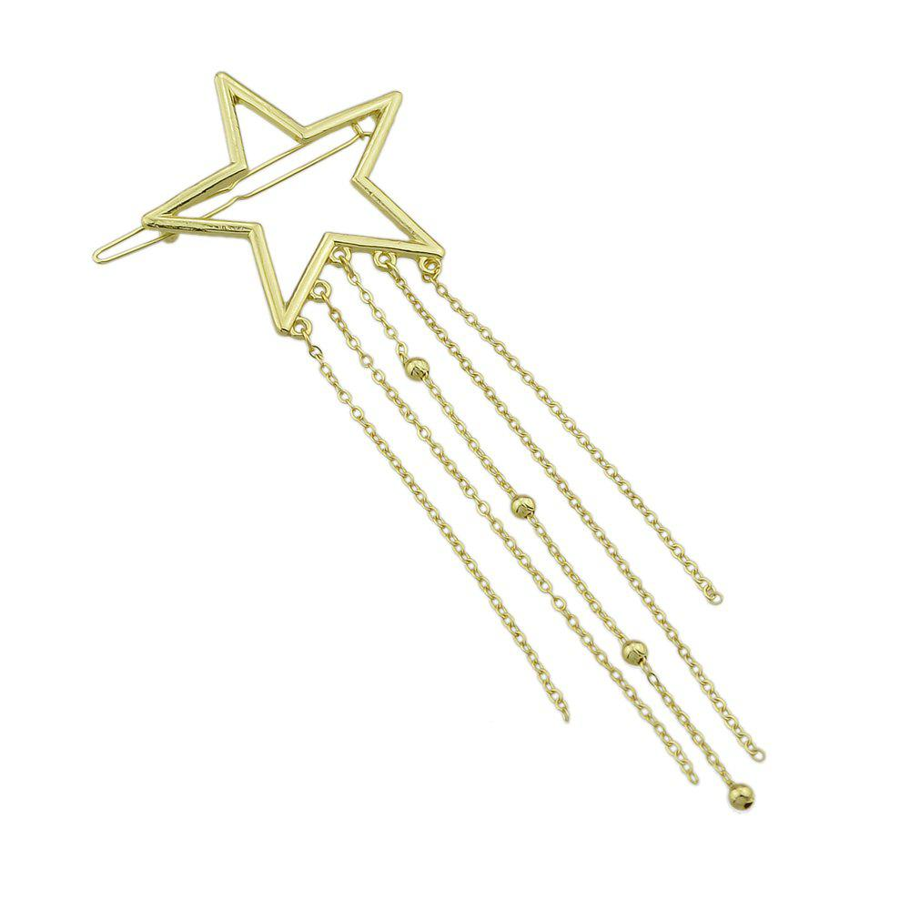 Shop Gold-color Star Multi Layers Tassel and Beads Hairgrips