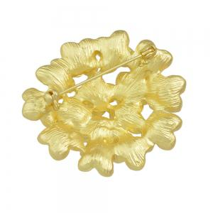 Gold-color Flower Brooches for Fashion Lady -