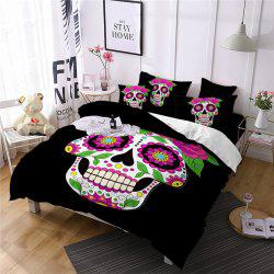 AS87-B Rose Fear Personality Decorative Pattern Bedding Set -