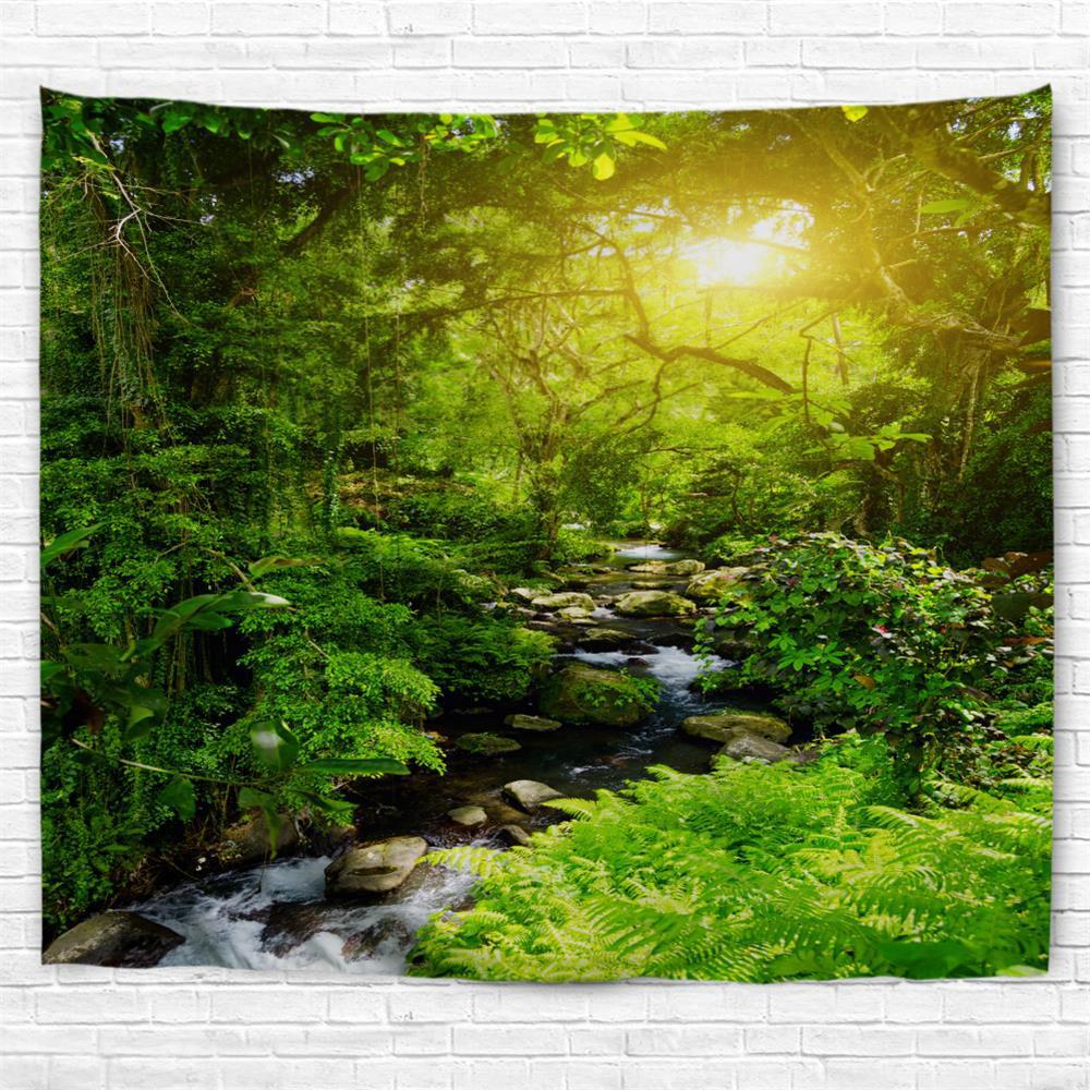 Best Forest Creek  3D Printing Home Wall Hanging Tapestry for Decoration