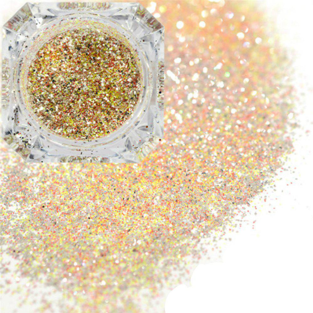 Trendy Platinum Shiny Nail Glitter Powder Diamond Manicure Chrome Pigment