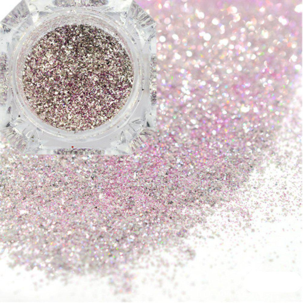 Unique Platinum Shiny Nail Glitter Powder Diamond Manicure Chrome Pigment