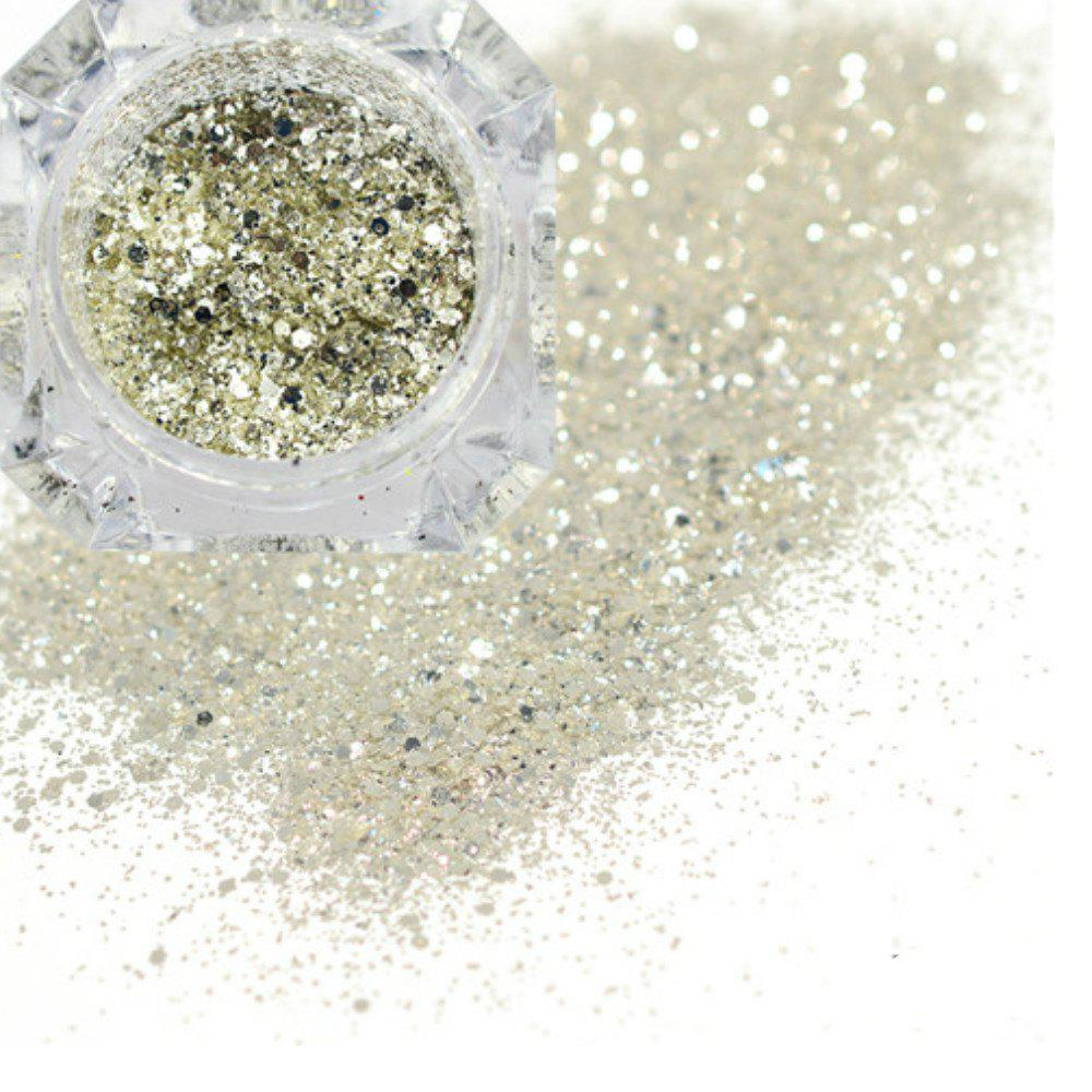 Best Platinum Shiny Nail Glitter Powder Diamond Manicure Chrome Pigment