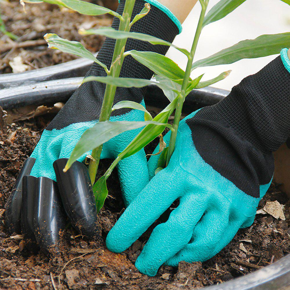 Outfit ABS Latex Right Hand Claws Gardening Gloves for Mining and Plant