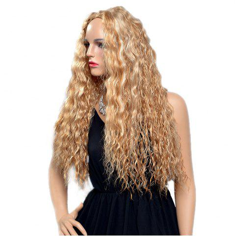 Buy Women Fashion Blonde Corn Perm Long Curly Fluffy Heat Resistant Synthetic Wigs