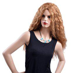Blonde Mixed Heat Resistant Synthetic Hair Long Wave Curly Party Wigs for Women -