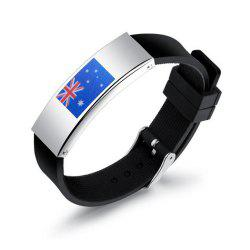 New Fashion Ball Fans Wristband Silicone Flag Friendship Bracelet -