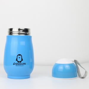 Candy Color Thermos Stainless Steel Penguin Vacuum Flask Cup for Children 250ml -