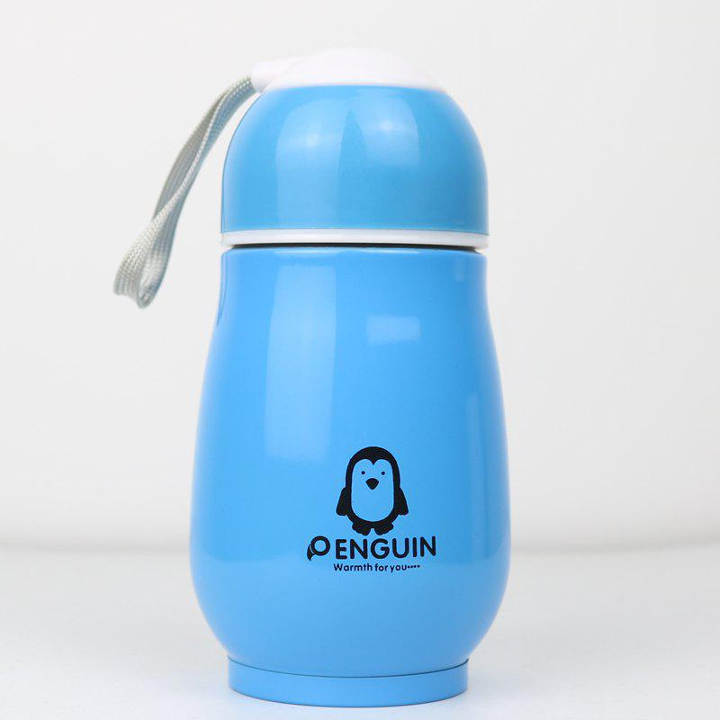 Cheap Candy Color Thermos Stainless Steel Penguin Vacuum Flask Cup for Children 250ml