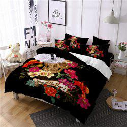 Rose Fear Personality Decorative Pattern Bedding Set AS94-B -