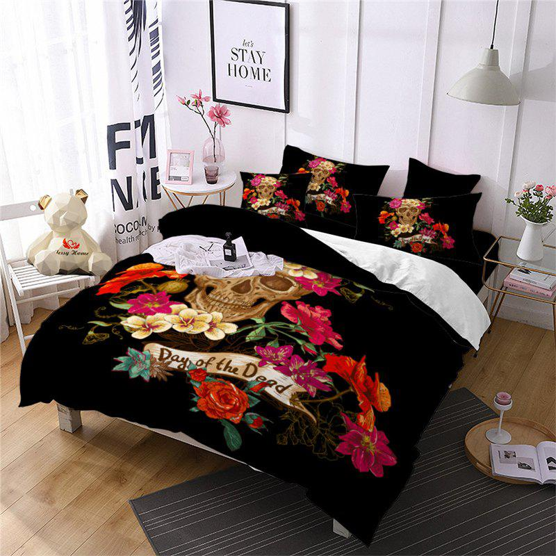 Chic Rose Fear Personality Decorative Pattern Bedding Set AS94-B