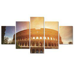 W352 Roman Architecture Unframed Wall Canvas Prints for Home Decorations 5PCS -