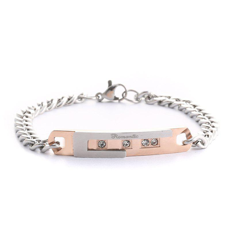 Latest Fine Couple Bracelet 4 Groups Lovers Personalized Gift Classic Cross Romantic