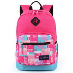 Ruipai 1677 Korean Style Grid Printed Student Backpack School Bag -