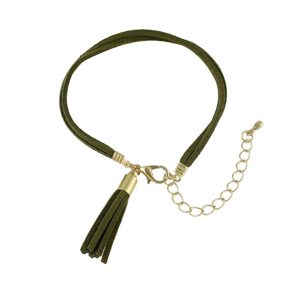 Outfits Fashion Braided PU Suede Chain Bracelets