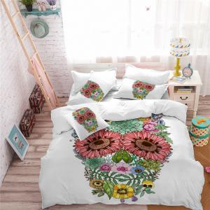 AS96-A Rose Fear Personality Decorative Pattern Bedding Set -