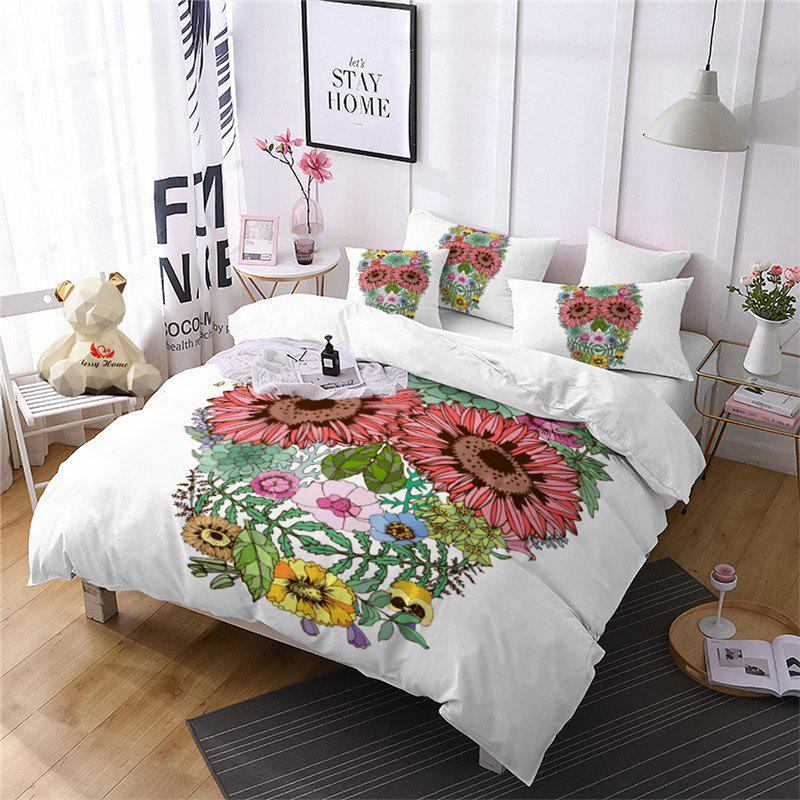 Latest AS96-A Rose Fear Personality Decorative Pattern Bedding Set
