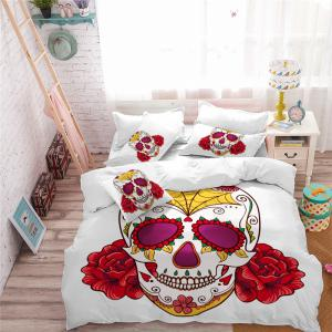 AS97-A Rose Fear Personality Decorative Pattern Bedding Set -