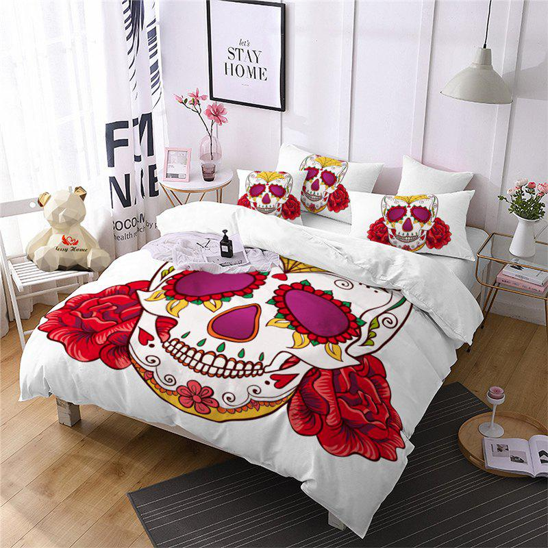 Store AS97-A Rose Fear Personality Decorative Pattern Bedding Set