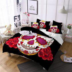 AS97-B Rose Fear Personality Decorative Pattern Bedding Set -
