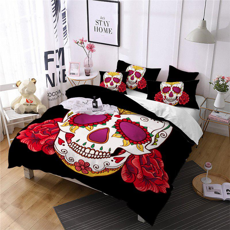 Fancy AS97-B Rose Fear Personality Decorative Pattern Bedding Set