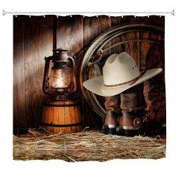 Cowboy Lanterns Water-Proof Polyester 3D Printing Bathroom Shower Curtain -