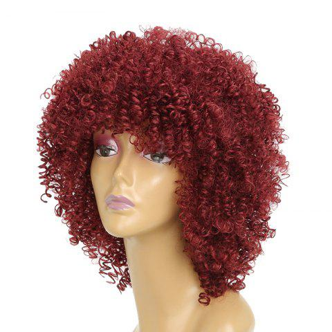 Fashion Afro Curly Hair Fluffy Fashion Short Synthetic Party Wigs for White Girls