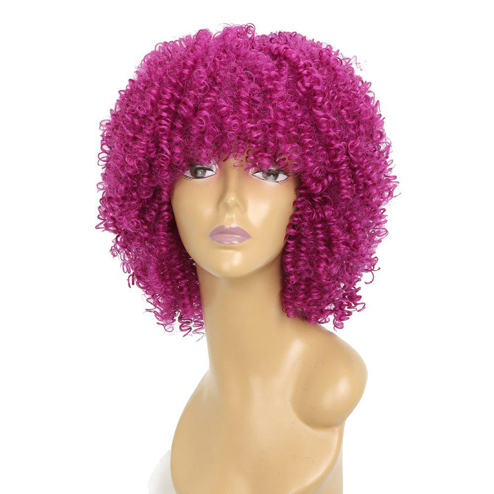 Unique Afro Curly Hair Fluffy Fashion Short Synthetic Party Wigs for White Girls