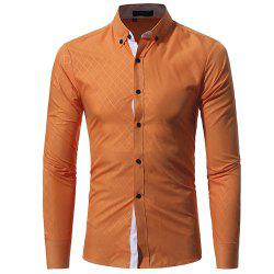 New Umber Lingge Men's Casual Slim Shirt -
